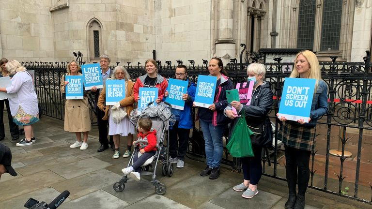 The claimants are suing the government over the current abortion law