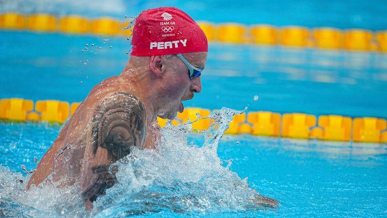 Adam Peaty won his heat of the 100m breaststroke