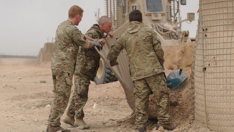 British soldiers in Helmand Province in March, 2014. (File pic)