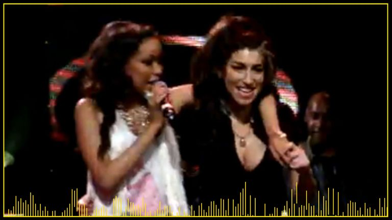 Bromfield performs with Winehouse during the tragic singer's last public appearance