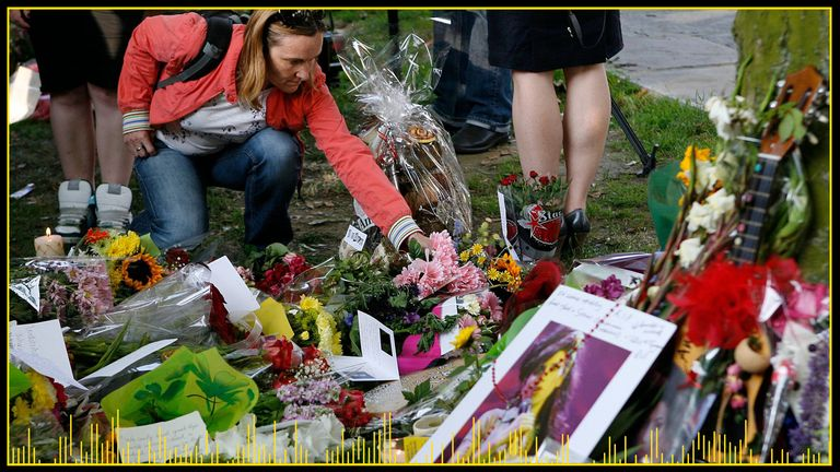 Tributes were laid near Amy Winehouse's home after her death