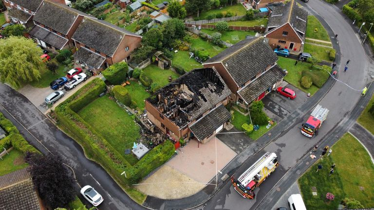 The two homes were badly damaged by the lightning. Pic: Jez Rolfe Photography