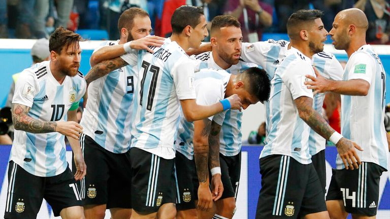 Argentina are among the favourites to win. Pic: AP