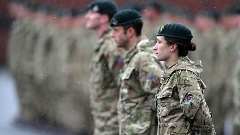 The report said the armed forces are failing to help women achieve their full potential