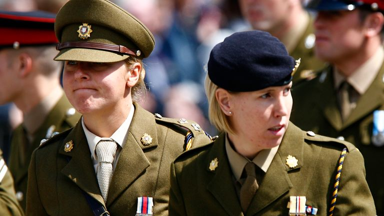 The report found most women had faced bullying, harassment and discrimination in the armed forces