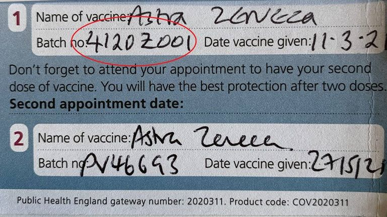 Some batches of the AstraZeneca vaccine are not recognised by the EU's drug regulator