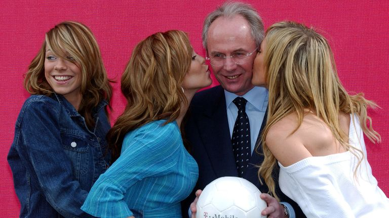 Then England manager Sven-Goran Eriksson and Atomic Kitten launch T-Mobile in London in April 2002