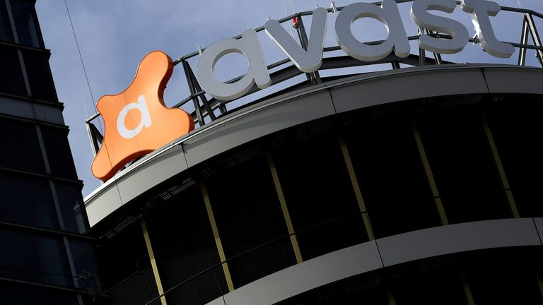 The logo of Avast Software company is seen at its headquarters in Prague, Czech Republic, April 12, 2018
