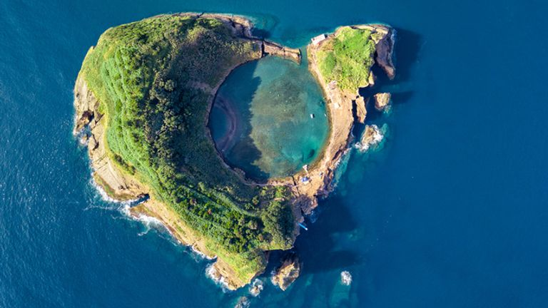 The volcanic islet in Franca do Campo in the Azores - some of the devices will be placed near the Portuguese archipelago