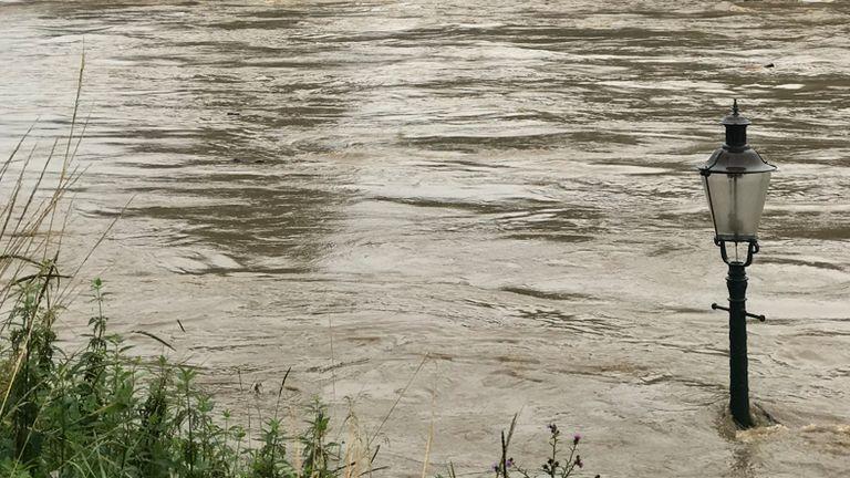 Le acque alluvionali erano pericolosamente alte in Belgio