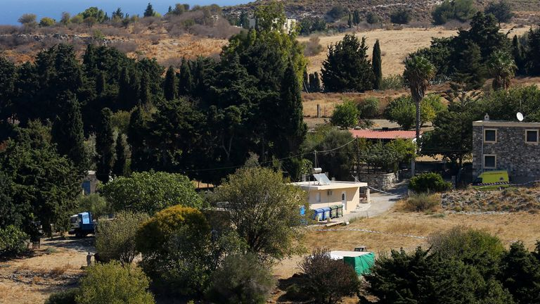 The property in Kos, Greece, where officers from South Yorkshire Police excavated in relation Ben's disappearance (file image)