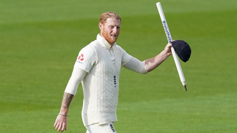 England v West Indies - Emirates Old Trafford, Manchester, Britain - July 20, 2020 England's Ben Stokes celebrates after winning the test, as play resumes behind closed doors following the outbreak of the coronavirus disease