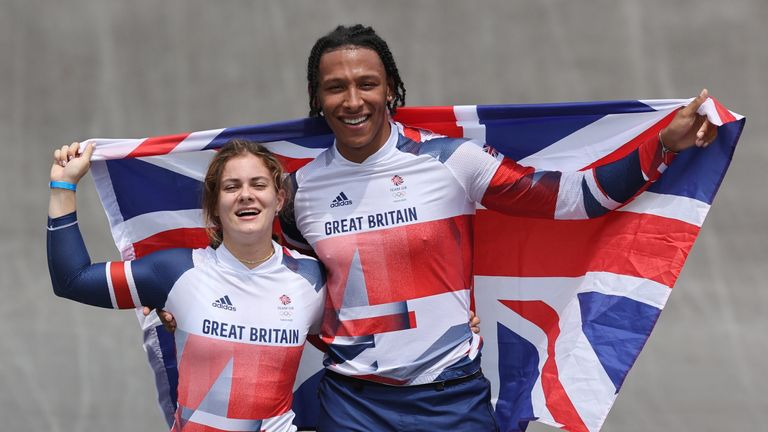 Beth Shriever won gold in the women's BMX racing, while Kye Whyte secured silver