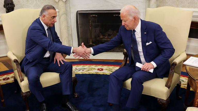Joe Biden met with Iraq's Prime Minister Mustafa Al-Kadhimi at the White House