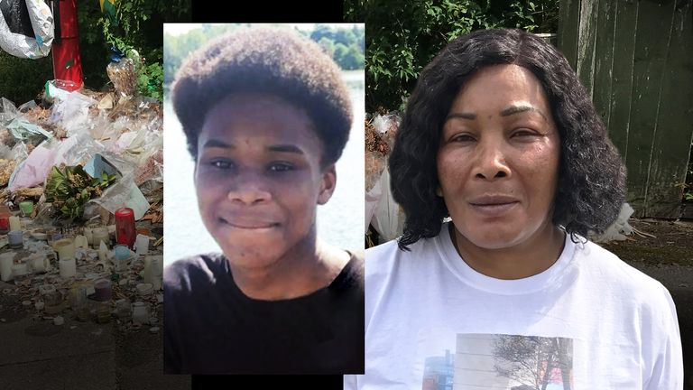 Dea-John Reid's family (mother right) laid him to rest on Wednesday