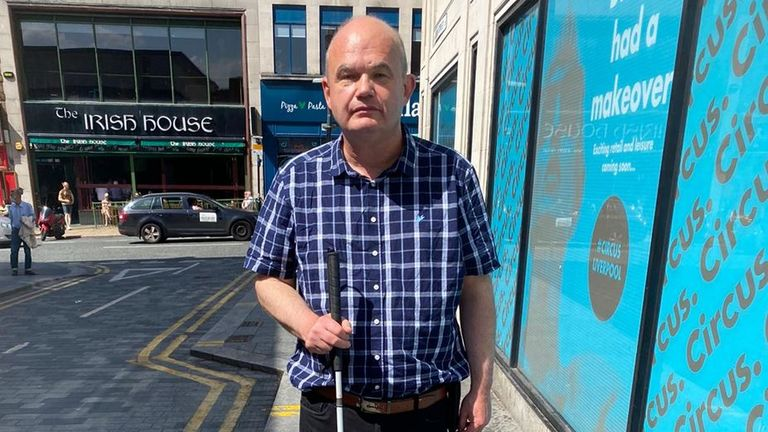 Tom Walker, who was nearly knocked down by an e-scooter, will help deliver the petition
