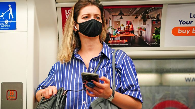 Face masks won't be a legal requirement on public transport when England's restrictions end, Boris Johnson has announced