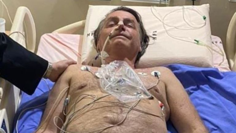 Brazil's president Jair Bolsonaro is in hospital after 10 days of the hiccups