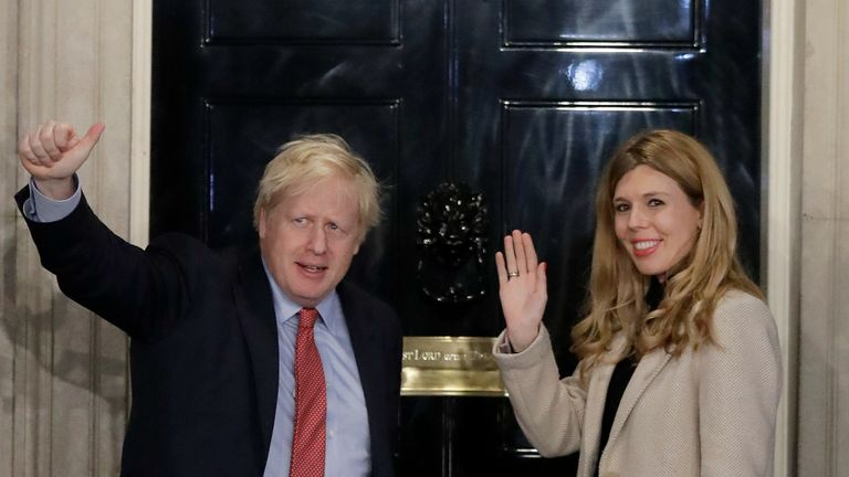 Boris Johnson and his now wife Carrie Johnson