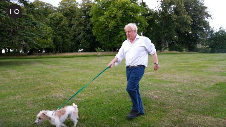 Boris Johnson and his dog Dilyn