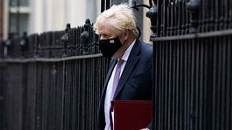 07/07/2021. London, United Kingdom. Prime Minister Boris Johnson leaves 10 Downing Street for Prime Ministers Questions at the Houses of Parliament. Picture by Simon Dawson / No 10 Downing Street