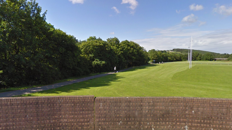 Pandy Park alongside the Ogmore River, where the boy was found. Pic: Google