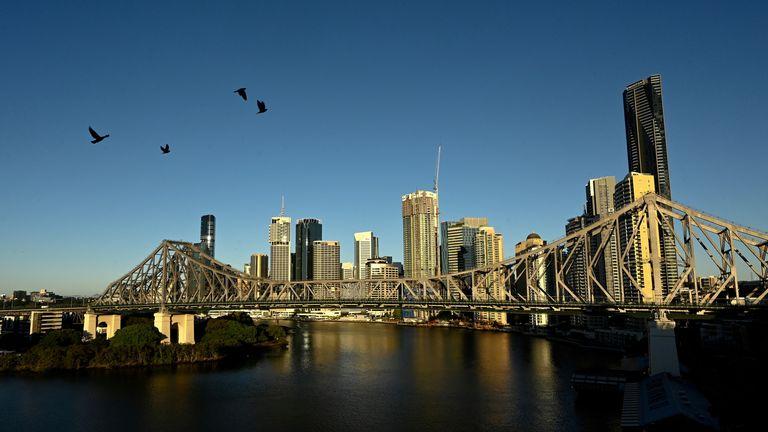 The Brisbane city skyline