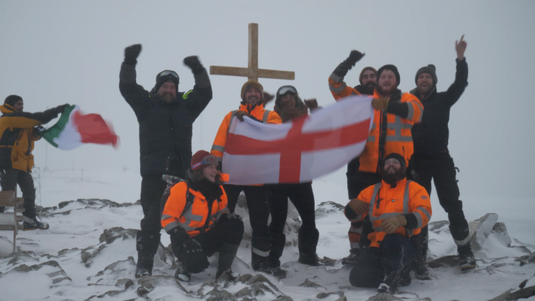 The Euro 2020 Men's Football Final will be watched by a small group of intrepid scientists and support staff living 11,000km away from Wembley at the British Antarctic Survey's Rothera Research Station in Antarctica. Pic:  British Antarctic Survey