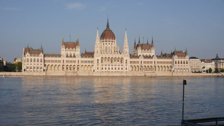 Hungary's parliament buildings in Budapest