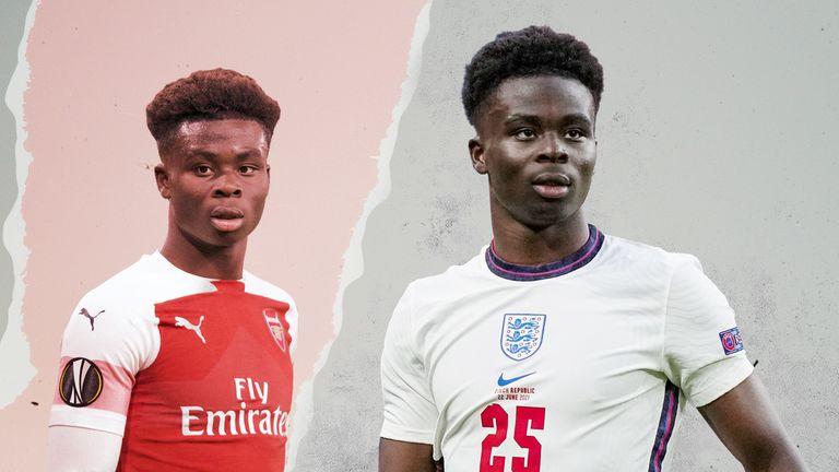 Bukayo Saka has been putting on impressive displays for England during Euro 2020