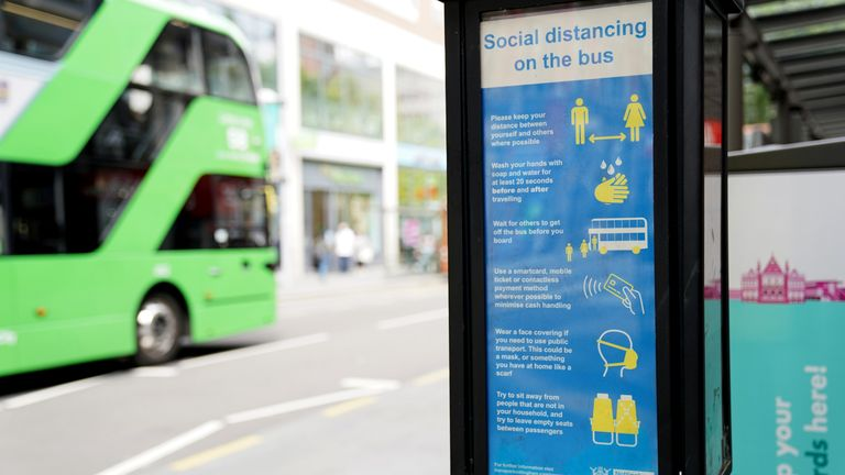 A safety notice for buses in Nottingham