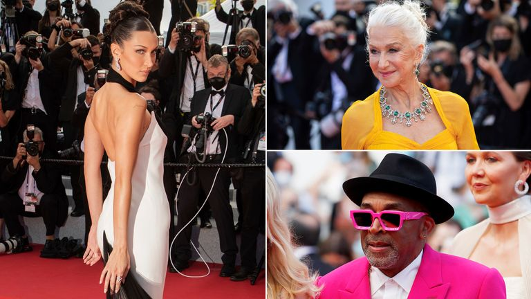 Bella Hadid, Dame Helen Mirren and Spike Lee. Pics: Vianney Le Caer/Invision/AP/Reuters