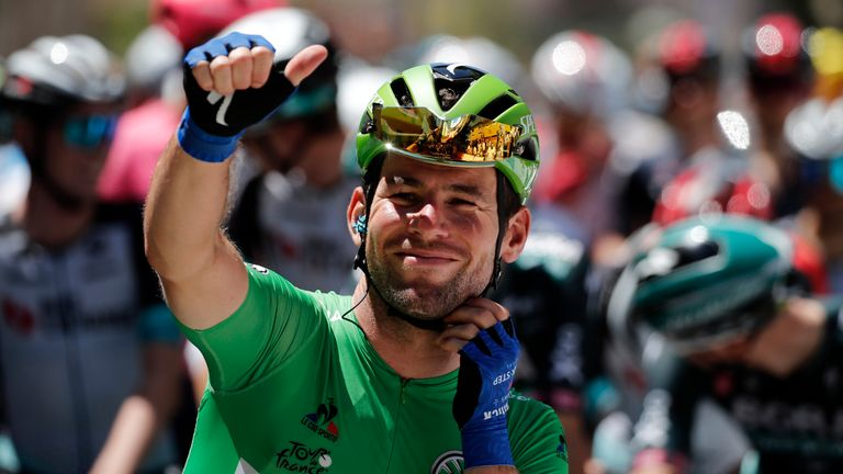 Cavendish has now equalled Eddy Merckx's all-time record wins