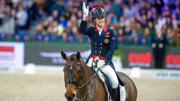 Charlotte Dujardin will debut a new horse in Tokyo. Pic: AP