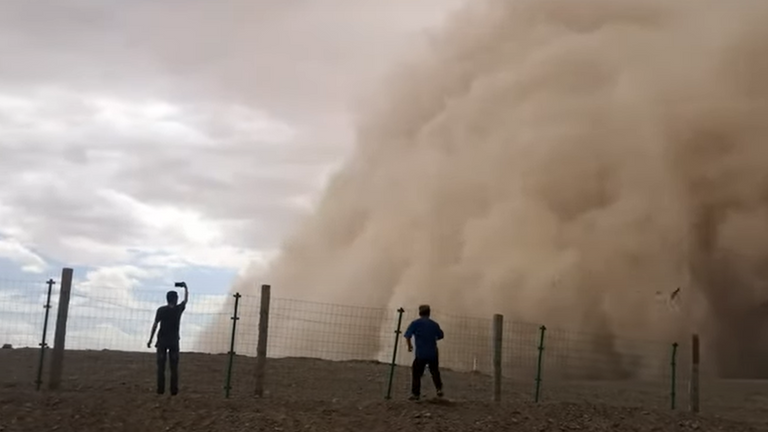 Authorities issued a warning for several counties, expecting strong winds and visibility to drop to up to 100 metres (62 miles).