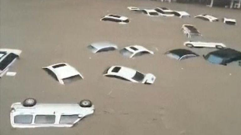 Flooding in the city of Zhengzhou