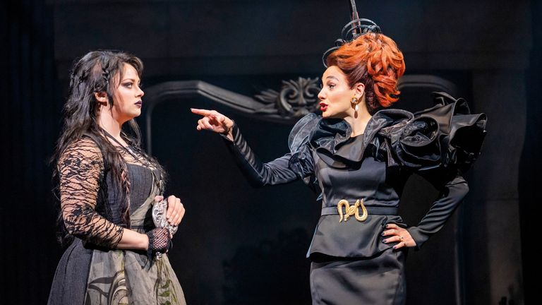 Carrie Hope Fletcher (L) plays Cinderella in Andrew Lloyd Webber's new musical. Pic: Tristram Kenton