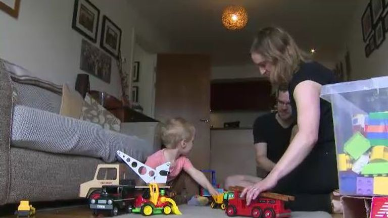 Vickie Pargetter with husband Dave and son Blake want to move but their flat might be worthless