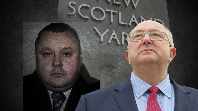Former Met Police chief inspector Colin Sutton (R) investigated serial killer Levi Bellfield. Pic: Revelation Films