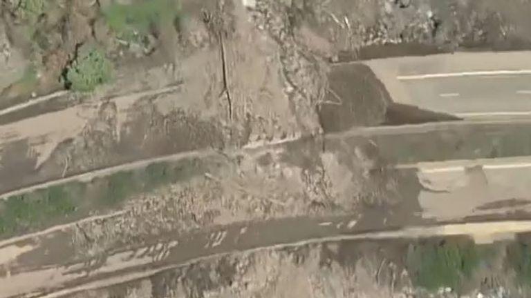 Mudslides block highway in Colorado