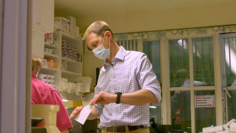 Dr Ben Milton has been leading the vaccine rollout in the village