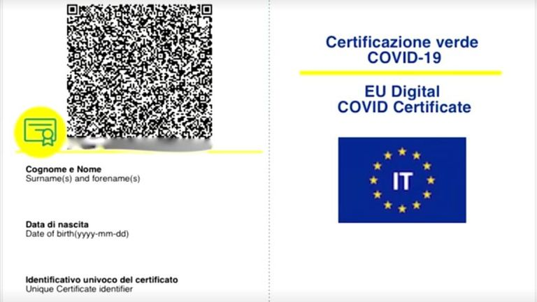 The EU Digital COVID Certificate could be used to allow people from amber list EU countries into the UK without quarantining