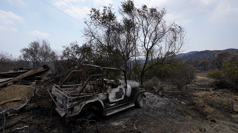 The fire has swept across the village of Ora