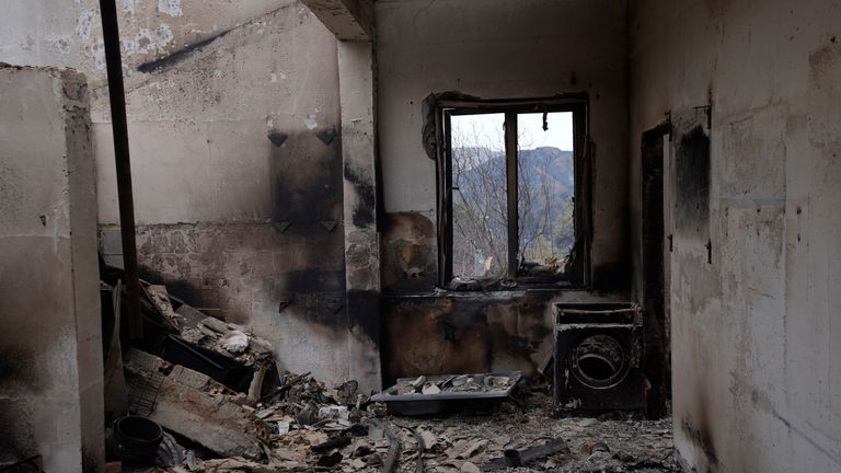 Burned out houses have been found in Ora village on Troodos mountain