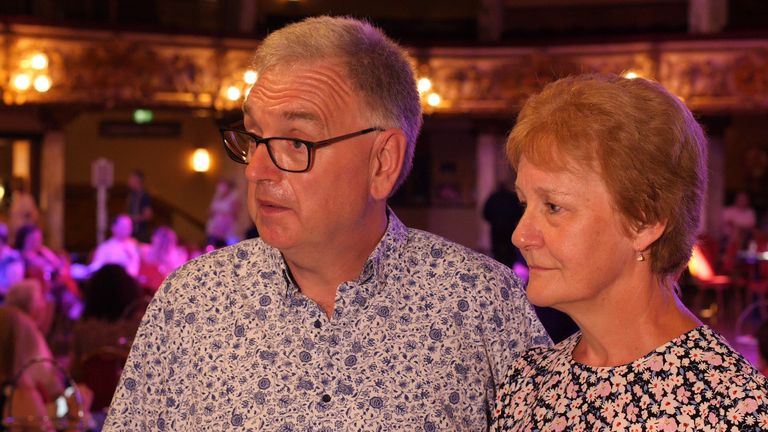 Anthony Reed and his wife Chris at Blackpool ballroom dancing