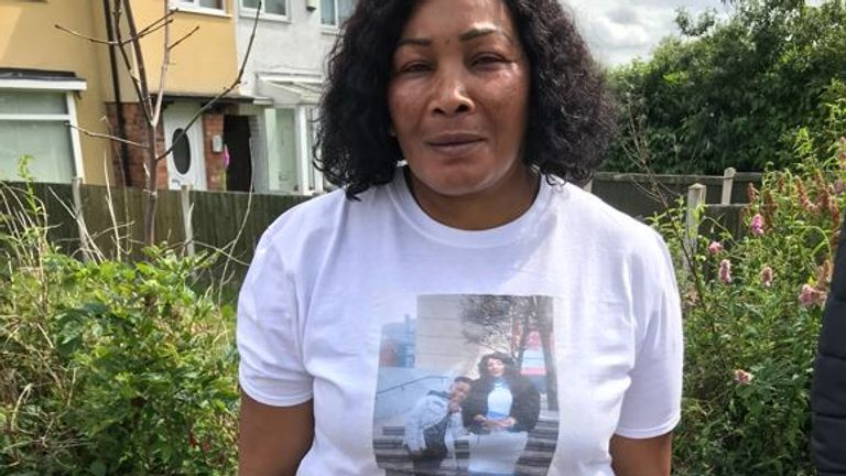 Dea-John's mother Joan Morris