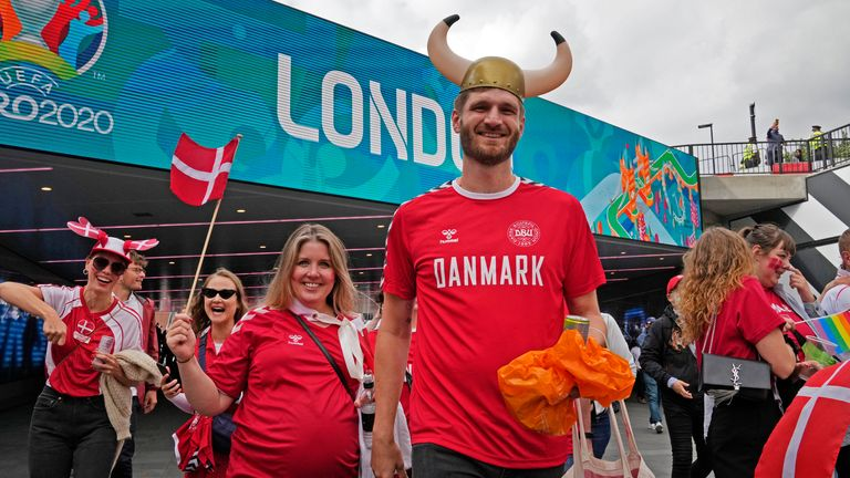 Around 8,000 Denmark fans are going to the game