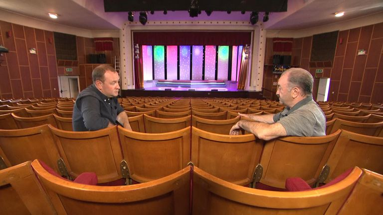 Colin Matthews (right), owner of the Babbacombe Theatre, spoke from an empty theatre. He has had to cancel all performances this week because the case is having to isolate