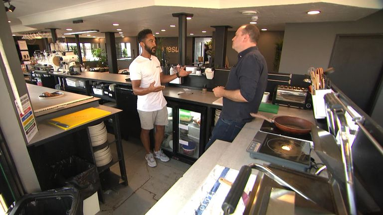 Sean White, owner of a bar and cafe in Torquay, has been forced to shut his kitchen