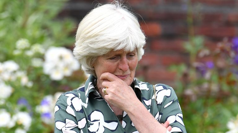 Lady Jane Fellowes at the unveiling of a statue of her sister Diana, Princess of Wales, in the Sunken Garden at Kensington Palace, London, on what would have been her 60th birthday. Picture date: Thursday July 1, 2021.